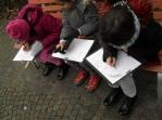 Girls Sketching
