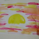Sunset in Watercolour