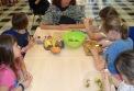 Preparing Fruit Skewers