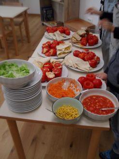 Stuffed Tomatoes and Piadine