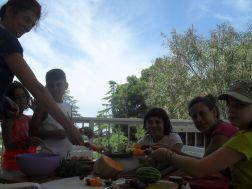 Sharing Rainbow Fruit Skewers