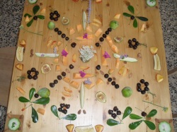 Fruit Mandala with Flowers